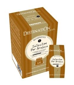 Capsules café Biospresso N°1 Sélection Pur Arabica BIO – 10x5,5g – Destination