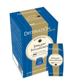 Capsules café Biospresso N°9 Douceur Décaféinée BIO – 10x5,5g – Destination
