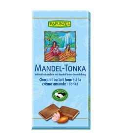 Chocolat au lait fourré à la crème amande BIO – Tonka – 100g – Rapunzel