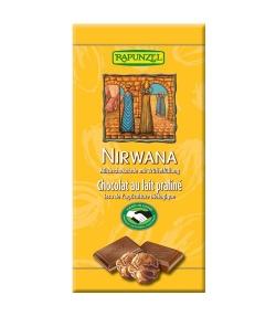 Chocolat au lait praliné BIO – Nirwana – 100g – Rapunzel