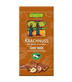 Chocolat au lait & noisettes BIO – Croc'nois – 100g – Rapunzel