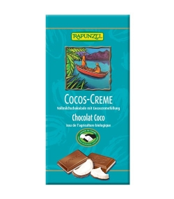 Chocolat au lait & noix de coco BIO – 100g – Rapunzel