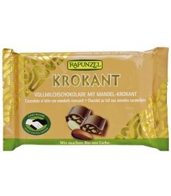 Chocolat au lait aux amandes caramélisées BIO – Krokant – 100g – Rapunzel