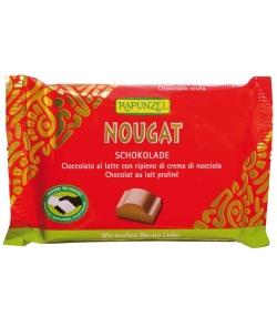 Chocolat au lait praliné BIO – Nougat – 100g – Rapunzel