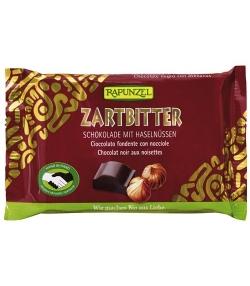 Chocolat noir aux noisettes BIO – 100g – Rapunzel