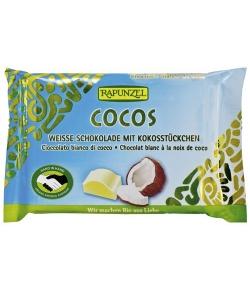 Chocolat blanc à la noix de coco BIO – 100g – Rapunzel