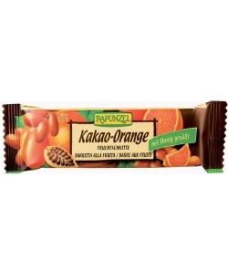 Barre aux fruits cacao & orange BIO – 40g – Rapunzel