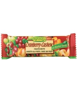 Barre aux fruits canneberges & noix de cajou BIO – 40g – Rapunzel