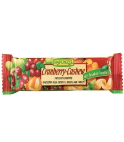 BIO-Fruchtschnitte Cranberry & Cashew – 40g – Rapunzel