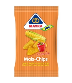 Chips de maïs au goût de paprika BIO – 125g – Mayka