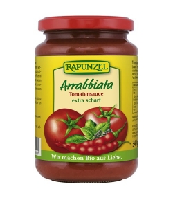 Sauce tomate Arrabbiata BIO – 340g – Rapunzel