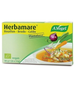 BIO-Gemüse-Bouillon Würfel – Herbamare Plantaforce – 8x11g – A.Vogel