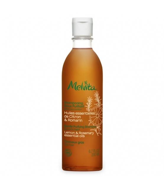 Shampooing doux purifiant BIO citron & romarin - 200ml - Melvita