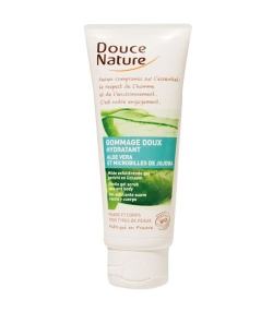 Gommage doux hydratant BIO aloe vera & jojoba – 75ml – Douce Nature
