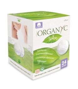 Coussinets d'allaitement en coton BIO – 24 pièces – Organyc