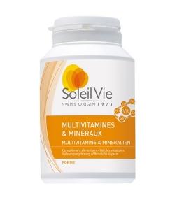 Multivitamines & minéraux – 120 gélules – 440mg – Soleil Vie