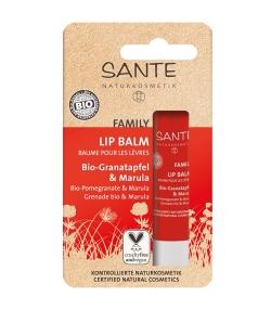 Baume à lèvres famille BIO grenade & marula – 4,5g – Sante