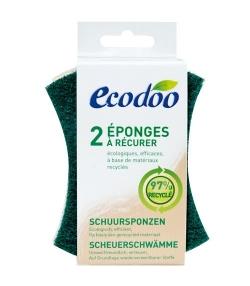 Eponges à récurer écologiques & recyclées - 2 éponges - Ecodoo