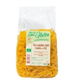 Torsades de maïs & riz BIO - Sans gluten - 500g - Ma vie sans gluten