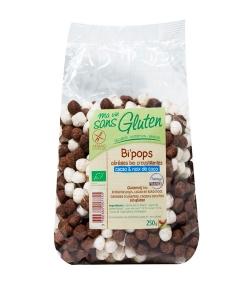 Céréales croustillantes riz, coco & cacao BIO - Bi'pops - 250g - Ma vie sans gluten