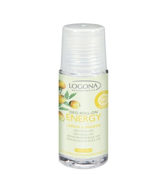Déodorant à bille BIO citron & gingembre - 50ml - Logona Energy