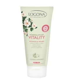 Lotion pour le corps BIO rose sauvage & raisin – 200ml – Logona Vitality