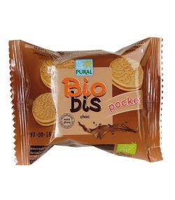 Biscuits fourrés ronds chocolat BIO – 40g – Pural