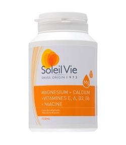 Magnésium + calcium + vitamines E, A, B2, B6 + Niacine – 100 capsules – 717mg – Soleil Vie
