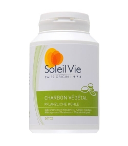 Charbon végétal – 100 gélules – 275mg – Soleil Vie
