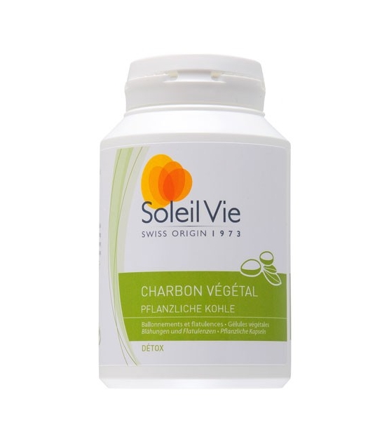 Charbon végétal - 100 gélules - 275mg - Soleil Vie