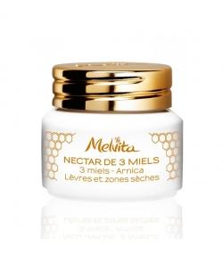 Nectar de 3 miels BIO lèvres & zones sèches – 8g – Melvita Apicosma