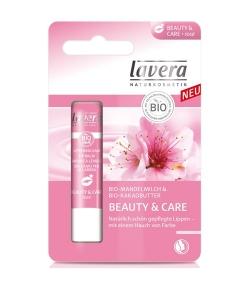 Baume à lèvres Beauty & Care Rosé BIO lait d'amande & beurre de cacao – 4,5g – Lavera