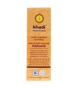 Huile de soin capillaire purifiante BIO – 100ml – Khadi