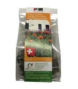 Tisane menthe orangée des Alpes BIO avec fleurs de souci – 15 sachets – Grand-St-Bernard