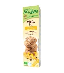 Sablés citron & graines de chia BIO – 150g – Ma vie sans gluten