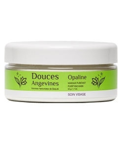 Poudre de masque purifiante BIO argile blanche & crème d'avoine – Opaline – 50g – Douces Angevines